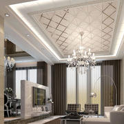 欧式客厅印花吊顶装饰