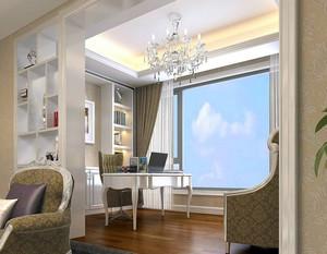 120平米现代简约风格客厅阳台装修效果图