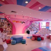 粉色调幼儿园效果图