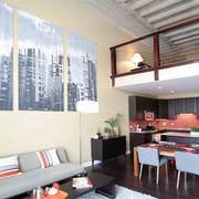 淡色调loft设计图片