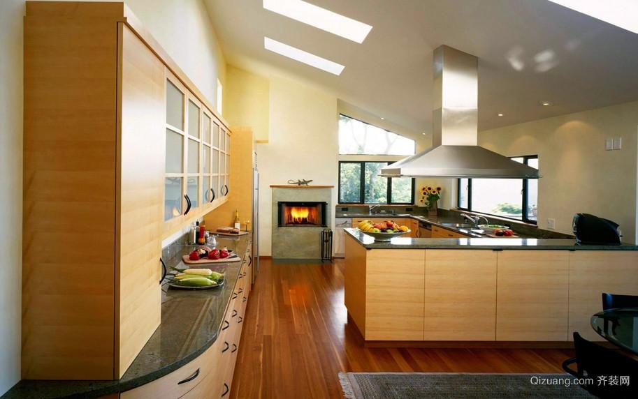 现代大型别墅阁楼厨房装修效果图大全