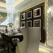 深色系后现代风格餐厅装修效果图