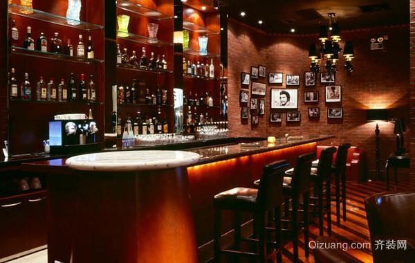 2016年时尚大方暖色系酒吧装修效果图