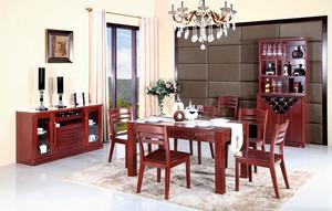 混搭风格大别墅餐厅实木家具装修图片