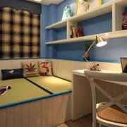 复式楼日式简约风格书房榻榻米装修效果图