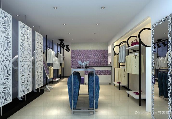 简约时尚23平米小服装店装修效果图