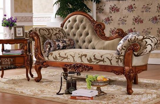 复式楼宜家风格欧式布艺沙发效果图片