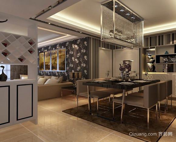 两室一厅现代简约风格精致餐厅装修效果图