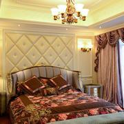 别墅欧式奢华风格卧室装修效果图