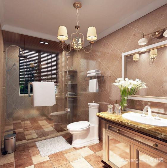 别墅实用型卫生间毛巾架图片
