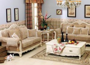 跃层时尚欧式布艺沙发效果图片