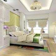 卧室清新床头壁纸装饰