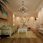80平米小户型现代欧式家装客厅装修效果图