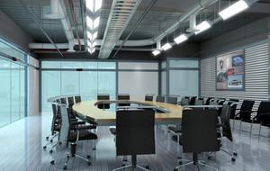 现代简约风格写字楼会议室吊顶装饰