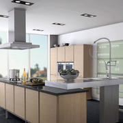 清新风格厨房设计图片