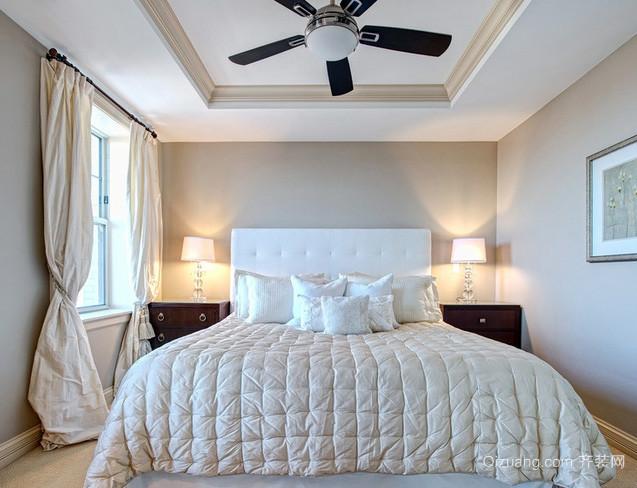 30平米白色系欧式简约风格卧室灯饰装饰