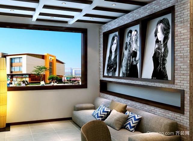 120平米现代简约风格大型理发店装修效果图高清图片