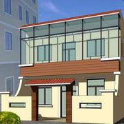 农村两层住房简约外观图装饰