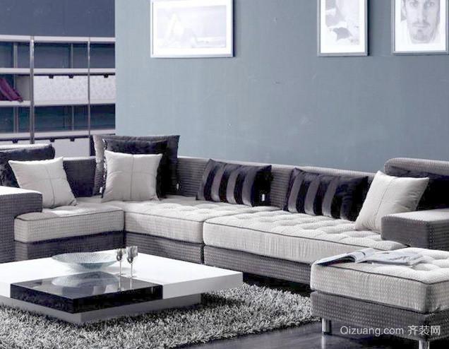 120平米现代简约风格客厅沙发装修效果图