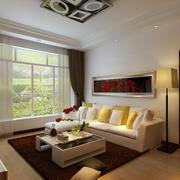 现代70平米旧房客厅改造装修效果图