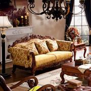 美式简约客厅家具设计
