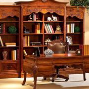 别墅奢华书房原木家具装饰