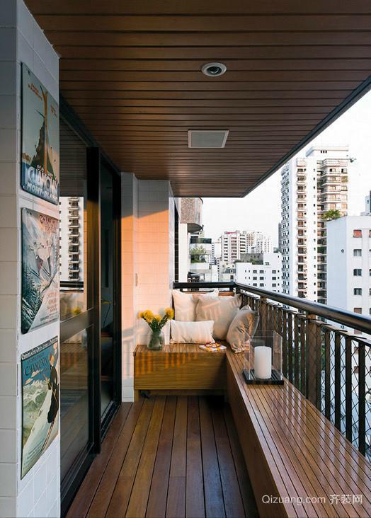 30平米小型矩形家居阳台装修设计效果图