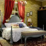 美式简约原木家具床饰装饰