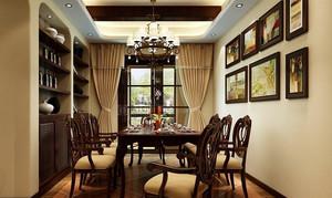古典120平米老房餐厅改造装修效果图