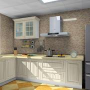 现代厨房马赛克瓷砖背景装修设计效果图