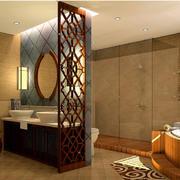 2016新中式三室两厅两卫卫生间装修图片