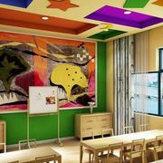 幼儿园教室七彩吊顶装饰