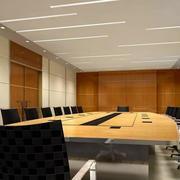 写字楼简约会议室桌椅装饰