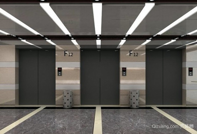 2016时尚风格电梯装潢设计效果图