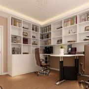 暖色调书房装修大全