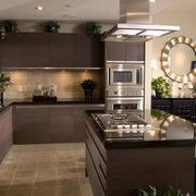 深色调厨房设计图片
