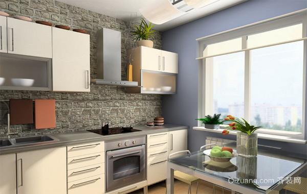 复式楼精致型厨房装修效果图