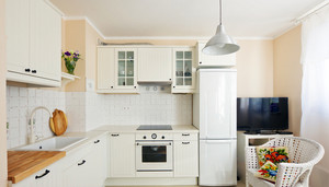 128平米田园风格厨房装修效果图