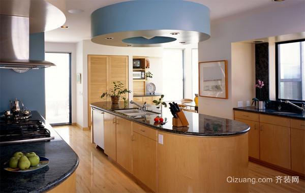 跃层简约风格厨房装修效果图