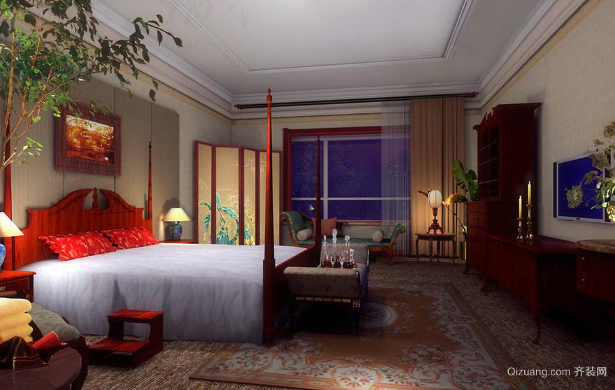 三居室唯美系列卧室装修效果图