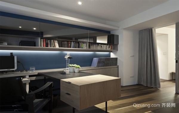三居室都市风格书房设计装修效果图