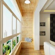 2016唯美淡雅家居小户型阳台装修设计效果图