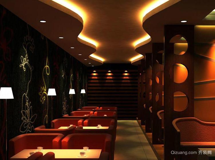 120平米自然风格咖啡店装修效果图
