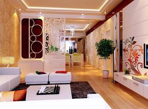两室一厅现代简约风格玄关装修效果图