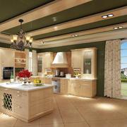 清新自然独栋别墅厨房装修设计效果图