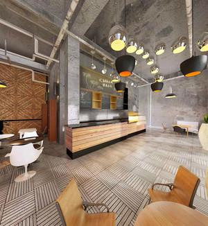 面积中等浪漫氛围咖啡店装修效果图
