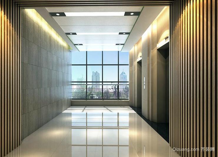 空间充足电梯装潢设计效果图
