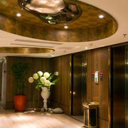 环境优雅电梯装潢设计效果图