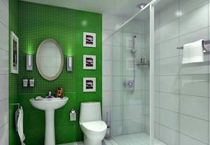 清新小户型卫生间背景墙装修图片