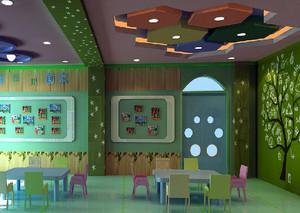 现代简约风格缤纷色彩幼儿园教室装修效果图